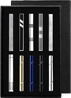 YADOCA 4-10 Pezzi Set di Fermacravatta per Uomo Metallo di Rame Classico Clip per Cravatta Nozze attività Commerciale con ...