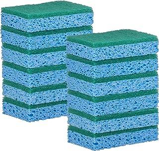 Elite Selection Rectangle Scrub Sponges – Non-Scratch Kitchen Sponges – Heavy Duty Cellulose Scrubbing