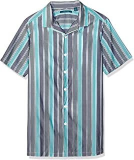 Perry Ellis Men's Big and Tall Wide Stripe Shirt