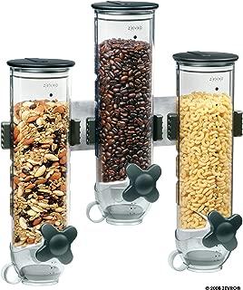 Zevro KCH-06139 Indispensable SmartSpace Wall Mount Triple Dry-Food Dispenser