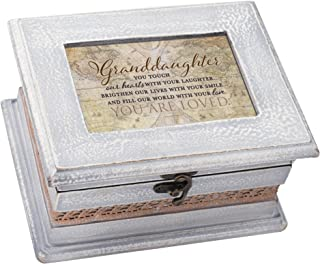 Cottage Garden Granddaughter Petite Whitewashed Old World Music Box Plays You Light Up My Life