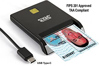 SGT111-8c Corporate and Govt/DOD PIV PIV-I CAC CIV TWIC FRAC EMV CAC FIPS 201 TAA Compliant ISO 7816 Smart Card and Credit Card Reader with USB Type-C connector