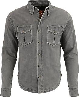 Milwaukee Performance - MPM1621-GREY-3X Men's Denim Biker Shirt With Aramid (Grey, XXX-Large), 0 Pack