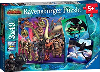 Ravensburger How to Train Your Dragon 3, 3X 49pc Jigsaw Puzzles