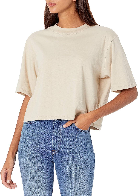 The Drop Women's Sydney Short-sleeve Cropped Crew Neck T-shirt