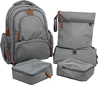Diaper Bag Backpack | Large with Change Pad, YKK Zippers, Two Packing Cubes and More.