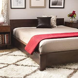 Modern Contemporary Style Alsa Deep Brown Wenge Finish King Platform Bed (Brown)