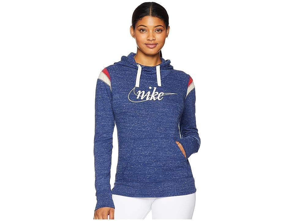 Nike Gym Vintage Hoodie Pullover HBR (Blue Void/Sail) Women