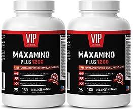 Amino acids pre Workout - MAXAMINO Plus 1200 - Endurance Supplements - 2 Bottles 360 Tablets