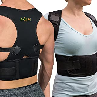 Posture Corrector for Women and Men - Comfortable Back Support Brace to Trigger Rounded Shoulders and Upper Back to Proper Position, Vest for Pain Relief. Fits Small and Medium ONLY.