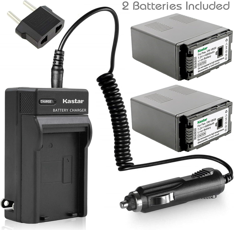 Max 68% OFF Kastar Battery X2 AC Travel VB VW-VBG6 Panasonic Charger Quantity limited for