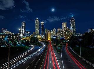 大人用ジグソーパズルNight Skyline City Atlanta Georgia USA 500-pieces