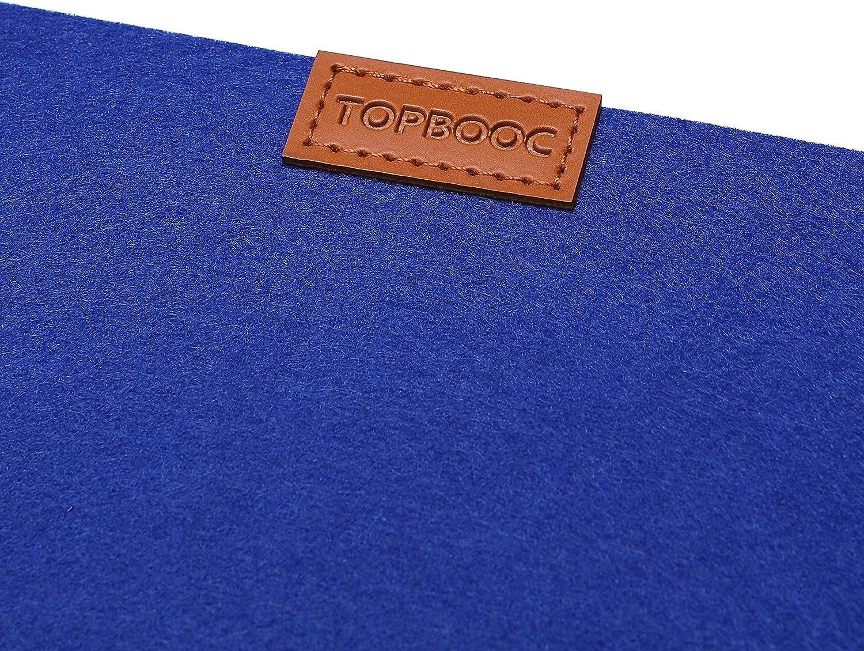 Blue, 12 Set of 16 Felt Woven Vinyl No-Slip Insulation Stain Resistant Anti-Skid Table Mats TOPBOOC Placemat