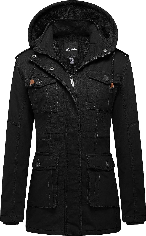 Wantdo Women's Warm Sherpa Lined Parka Coat