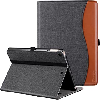 Ztotop Case for New IPad 9.7 Inch 2018/2017,Premium PU Leather Business Slim Folding Stand Folio Cover with Auto Wake/Sleep,Pencil Holder and Multiple Viewing Angles,DenimBlack