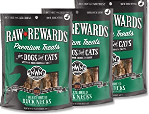 Northwest Naturals Freeze-Dried Duck Necks – 100% Natural Dog Treats, Cat Treat – Grain-Free, Gluten-Free Pet Food – No Hormones, Antibiotics – 5 Oz. – 3 Pack