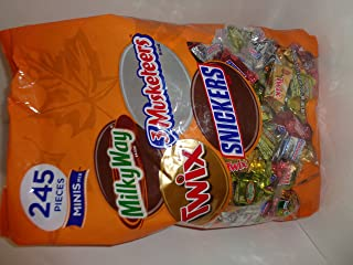 Mars Chocolate Minis Mix 245 Pieces Milkyway 3Musketeers Twix Snickers