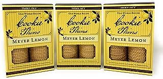 Trader Joe's Meyer Lemon Cookie Thins (Pack of 3)