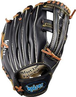 Kaiser(カイザー) グローブ トンボ 12インチ ブラック KW-323 野球 キャッチボール 練習用 一般用 軟式用 レジャー ファミリースポーツ