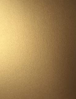 Antique Gold Stardream Metallic Lightweight Multi-use Text Paper 8.5 X 11 inch - 81 LB. Text/120 GSM - 50 Sheets from Cardstock Warehouse
