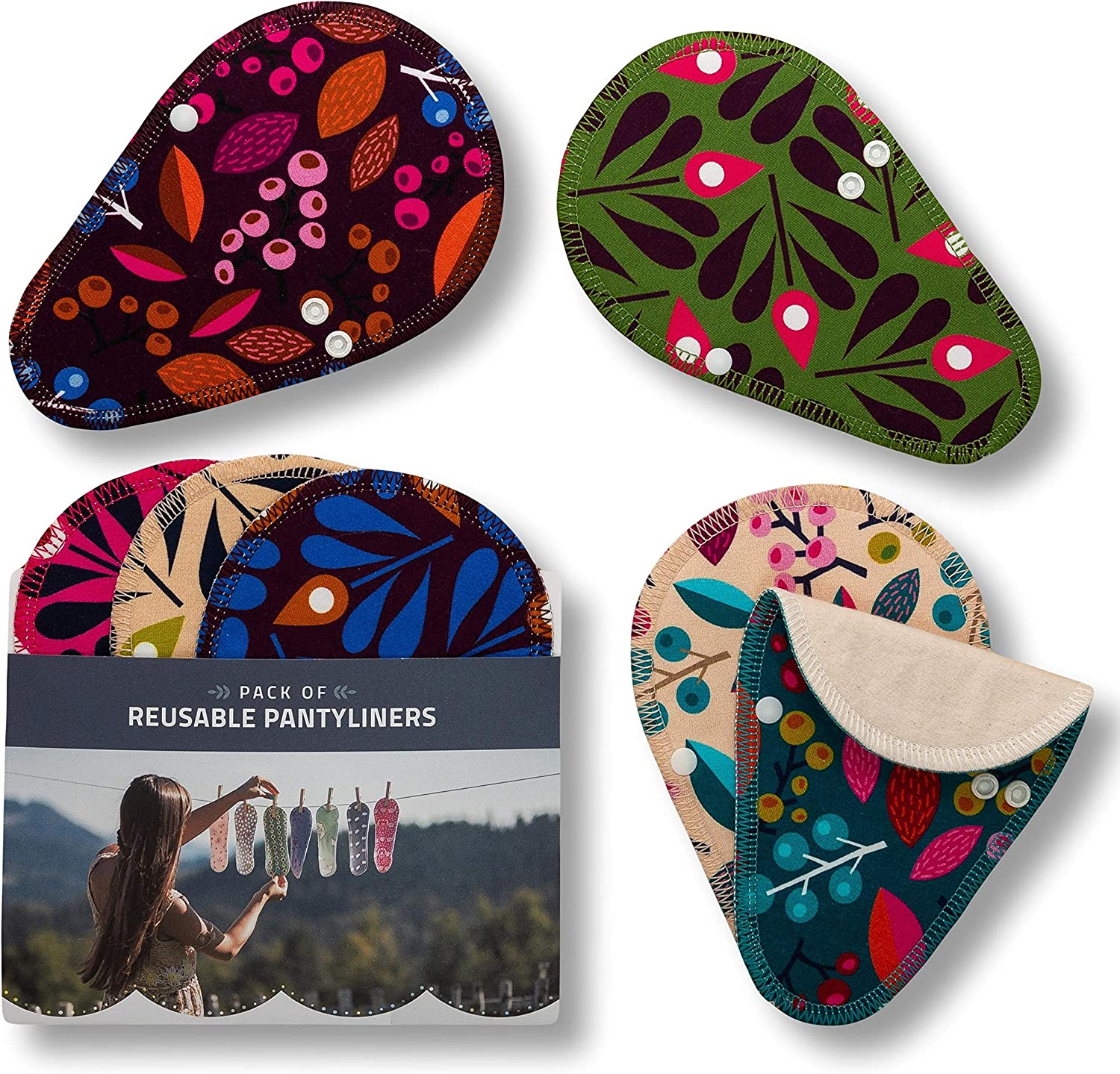 Reusable Panty Liners for Women Denver Mall 7-Pack Small Store Mini THONG; Organ