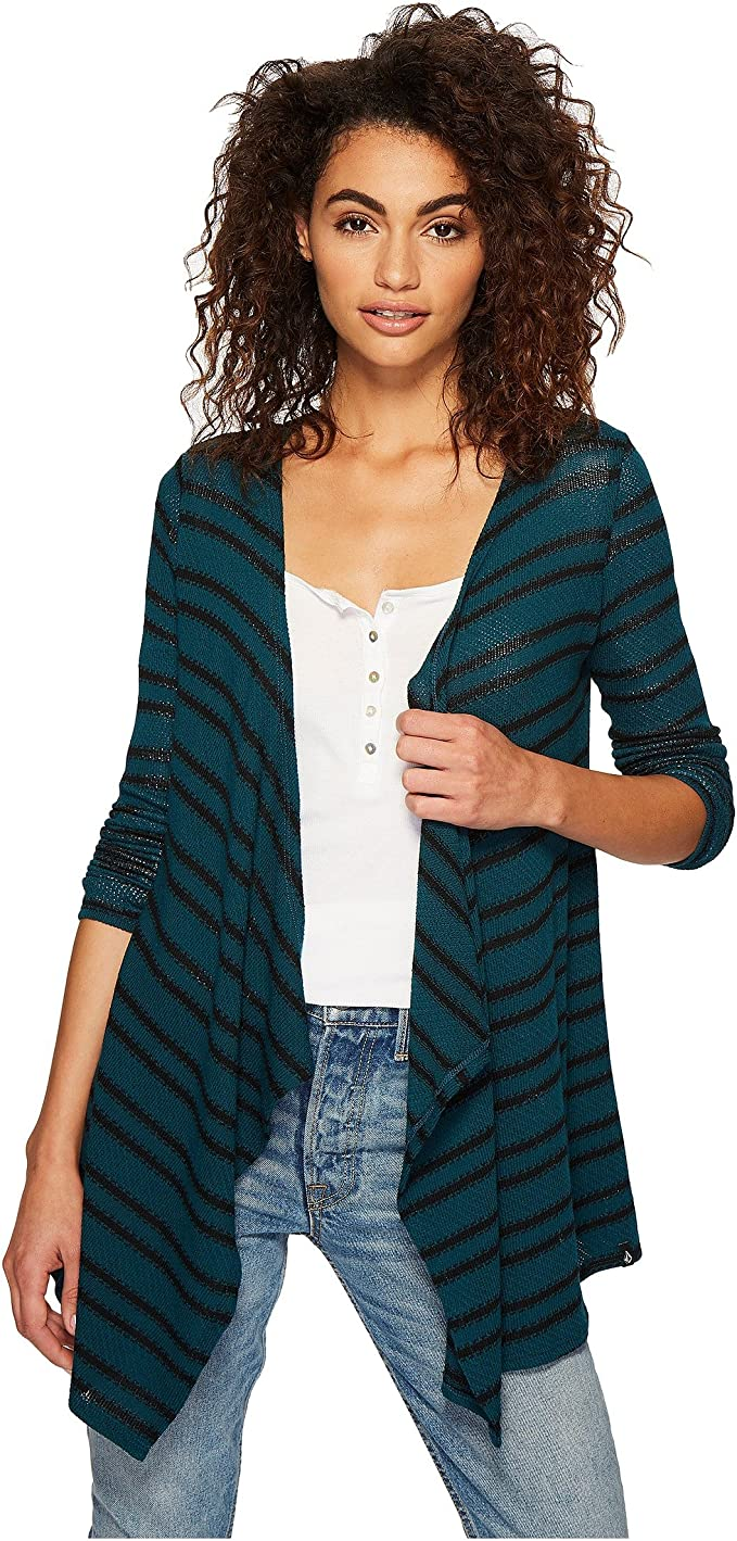 Regular /& Plus Size Volcom Womens Go Go Wrap Open Front Cardigan Sweater