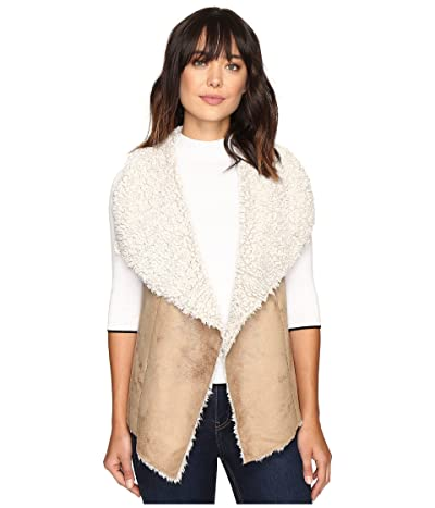 Dylan by True Grit Frosty Tipped Shearling Vest (Chino) Women