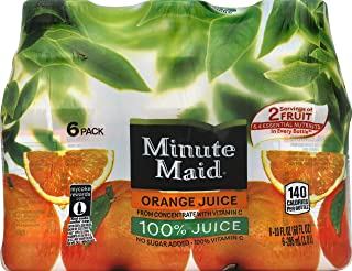 Minute Maid 100% Orange Juice, 10 Fl Oz Bottles, Pack of 6