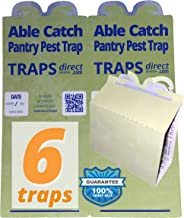 Able Catch 6 Pantry Moth Traps | USA Made | Safe Pheromone Lure | Guaranteed