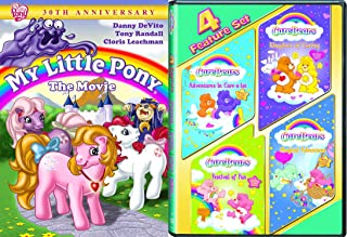 Classic 80's Toy Cartoon DVD Movie Set - My Little Pony: The Movie (30th Anniversary Edition) & Care Bears (4 Feature Movie Set) 5-Movie Bundle