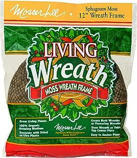 Mosser Lee KEW12B Sphagnum Moss Living Wreath, 12 in