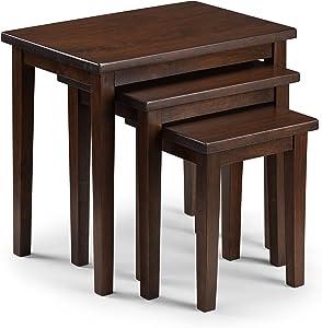 Julian Bowen Cleo Tables gigognes, Bois, Acajou, 33x 48x 46cm