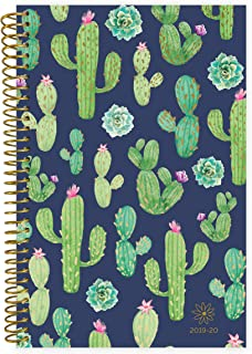 "bloom daily planners 2019-2020 Academic Year Day Planner Calendar (August 2019 Through July 2020) - 6"" x 8.25"" - Weekly/Monthly Yearly Agenda Organizer with Tabs - Navy Cacti"