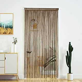 Beaded String Door Curtains with Pearl Beads,DIY Dense Beaded for Doors,Doorways and Windows,39x110 inch,Coffee(100x280cm)