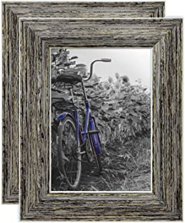 Americanflat 5×7 Rustic Tan Picture Frame with Polished Glass – Horizontal and..