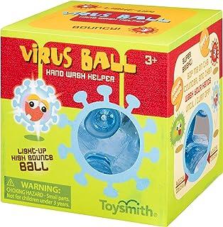Toysmith Virus Hand Wash Helper, High Bounce Light Up Ball, Wash Until It Stops Flashing