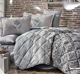 GOLDEN LINE RANFORCE BEDDING SET Luxury Bedding Set DOUBLE SIZE 6pcs King Size 6pcs - 100% Cotton - 1 QUILT COVER 260x240c...