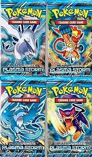 4 (Four) Packs of Pokemon Trading Card Game Black & White BW - Plasma Storm Booster (4 Pack Lot)