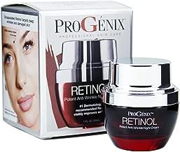 Progenix Profesional Skin Care Retinol Anti-Wrinkle Night cream for fine lines, deep wrinkles, sun damaged skin. 1oz
