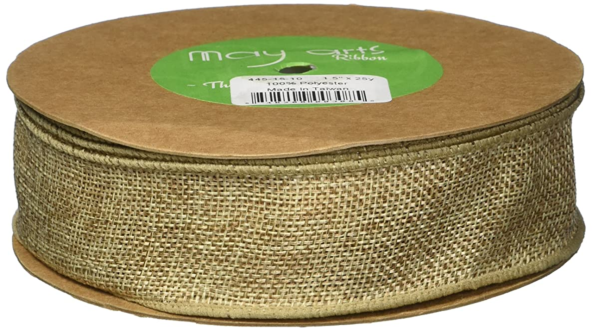 May Arts Wired Faux Burlap 1-1/2