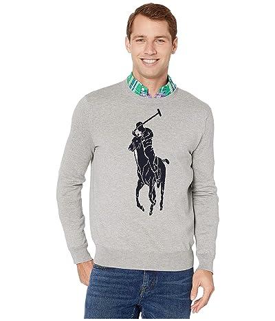 Polo Ralph Lauren Pony Player Crew Sweater (Andover Heather/Hunter Navy) Men