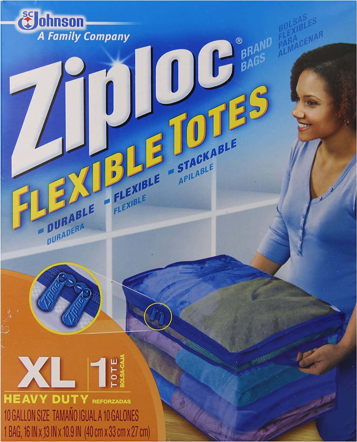 Our shop OFFers the best service SC Johnson Great interest 70161 Ziploc Flex Totes - Pack XL of 6