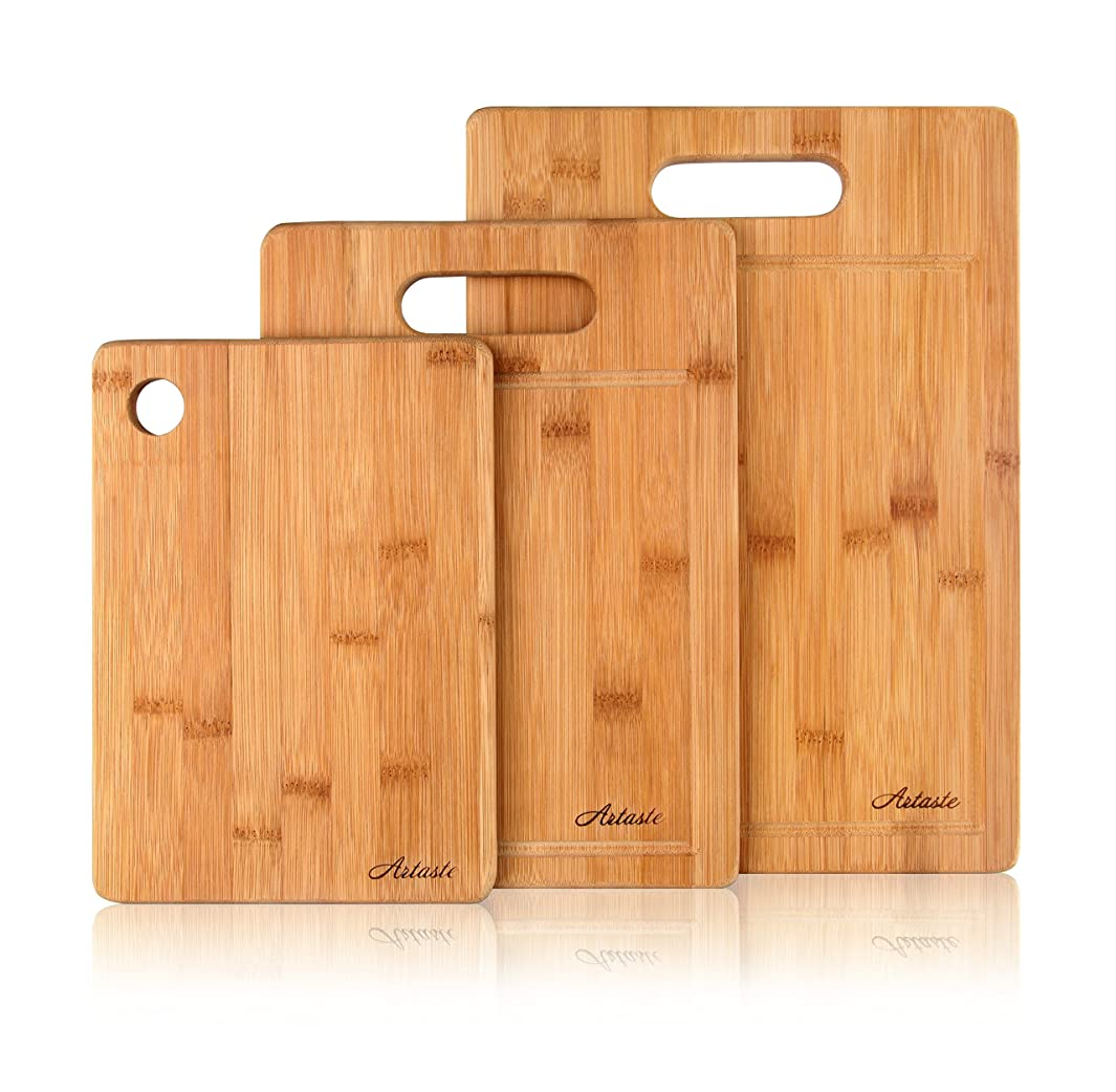 Artaste 28720 Extra Heavy Bamboo Cutting Board, Set of 3
