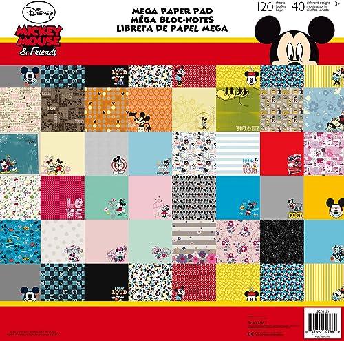 Web oficial Disney Mickey Mouse Mouse Mouse & Minnie Mouse Mega Bloc de papel 120 hojas con 40 Diseños diferentes  muy popular