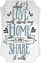 What I Love Most About My Home is Who I Share It with Wood Sign 12x8