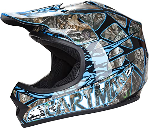 lowest Cartman Youth Motocross Helmet, discount Offroad Street wholesale Dirt Motorcycle Full Face Helmet Blue, Medium sale