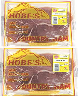 Hobe's North Carolina Mountain Cured Country Ham Prime Cut Centers & Ends 2 - 6 Oz. Packs