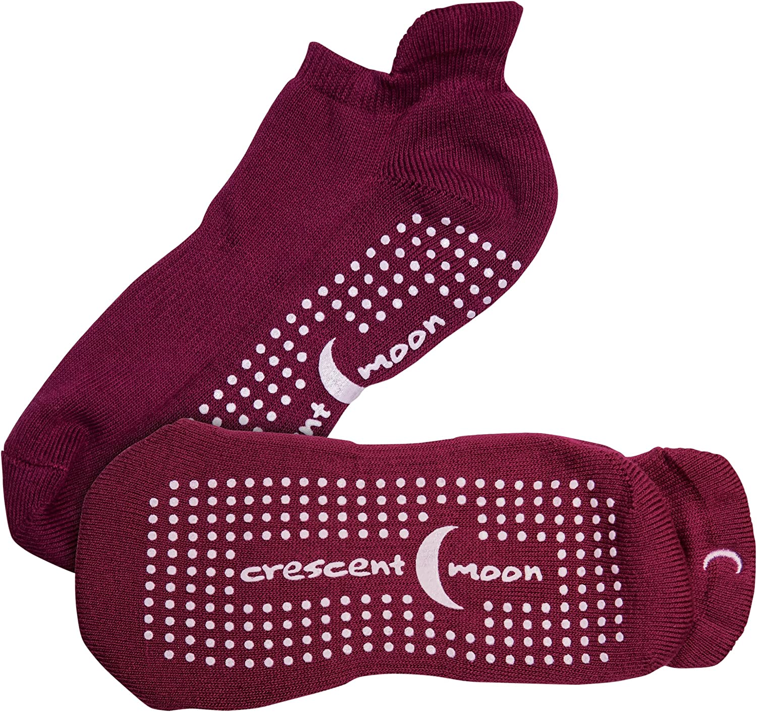 Max 81% OFF National products Crescent Moon Exersocks Barre Yoga Socks Small and Pilates Win
