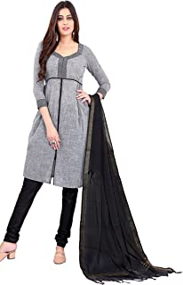 Minu salwar Cotton Printed Suit sets Grey(Prehandloom_3006_0)