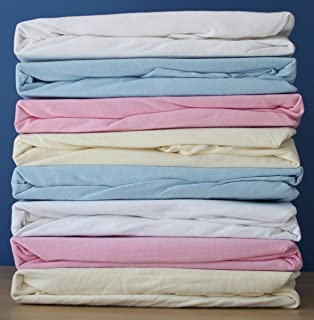 2x Jersey Fitted Sheet Compatible With Kinderkraft Neste Bedside Crib 55x90cm...